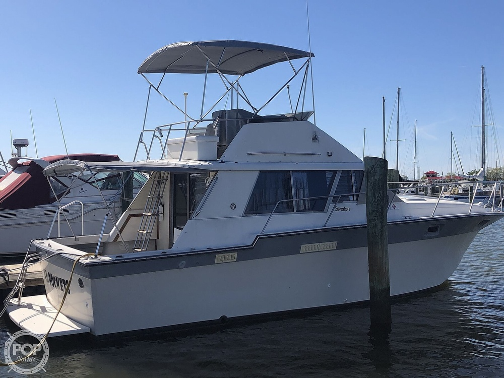 1987 Silverton boat for sale, model of the boat is 34 Convertible & Image # 8 of 40
