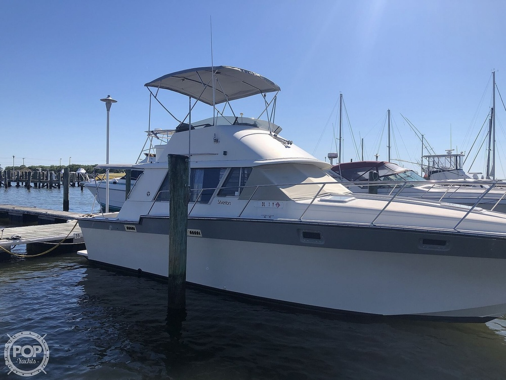 1987 Silverton boat for sale, model of the boat is 34 Convertible & Image # 10 of 40