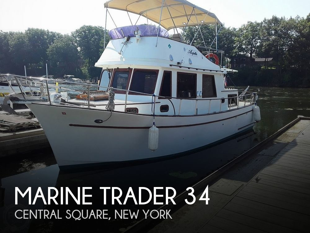 1977 Marine Trader boat for sale, model of the boat is Trawler 34 & Image # 1 of 10