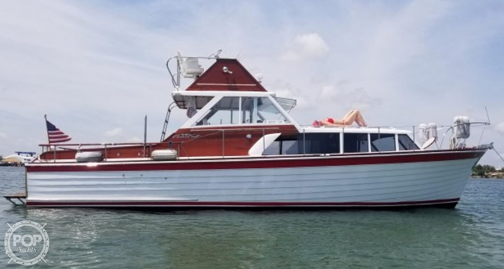 1961 Chris Craft boat for sale, model of the boat is Fly Bridge Sea Skiff & Image # 10 of 40