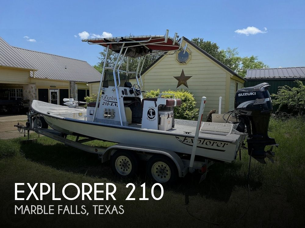 2005 Explorer boat for sale, model of the boat is 210 Tunnel Vee & Image # 1 of 40