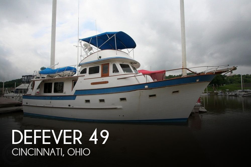 1984 Defever boat for sale, model of the boat is 49 Pilothouse & Image # 1 of 40