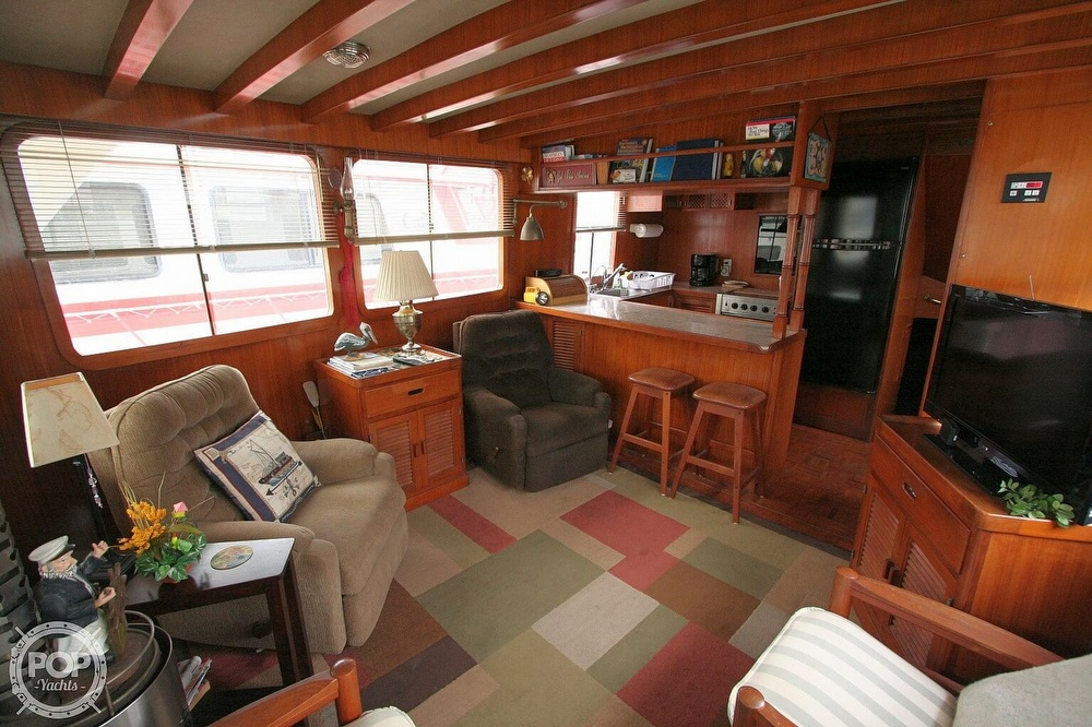 1984 Defever boat for sale, model of the boat is 49 Pilothouse & Image # 6 of 40