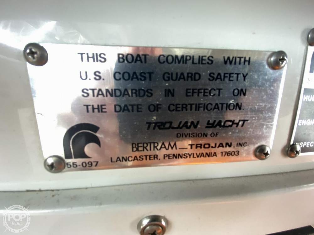 1987 Trojan boat for sale, model of the boat is 10.8-METER CNV & Image # 12 of 40
