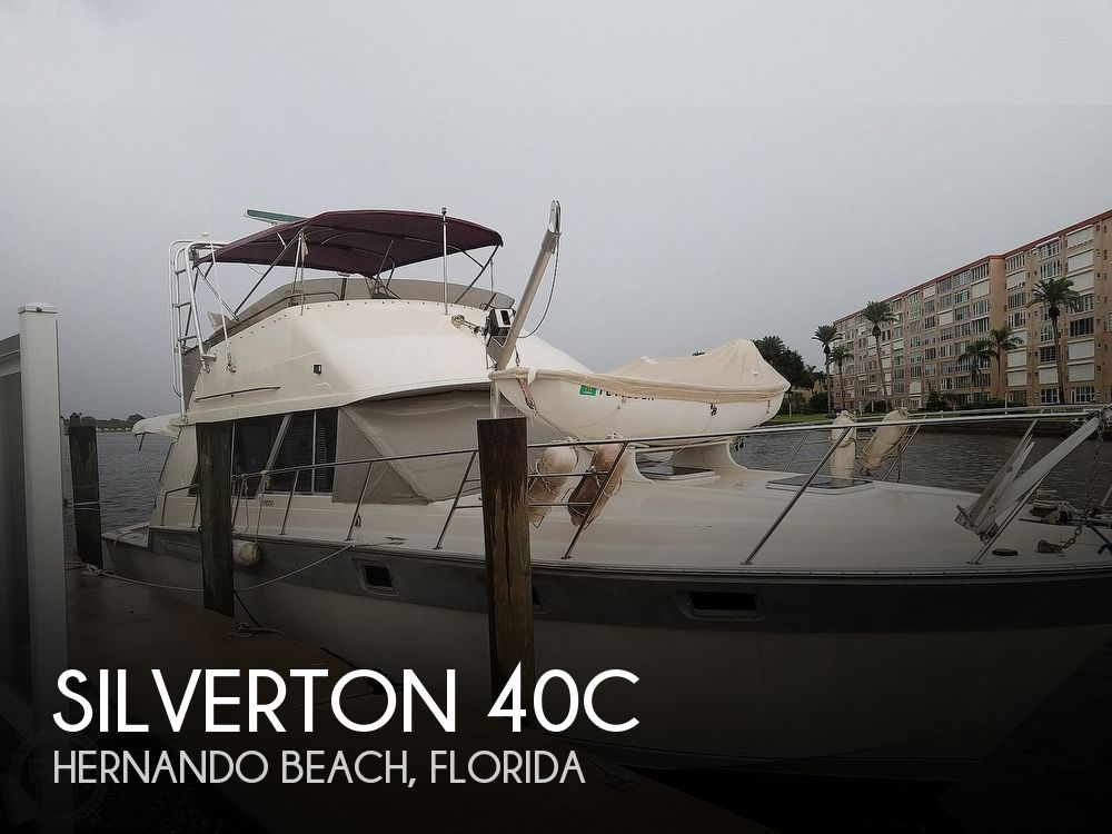1989 Silverton boat for sale, model of the boat is 40C & Image # 1 of 10