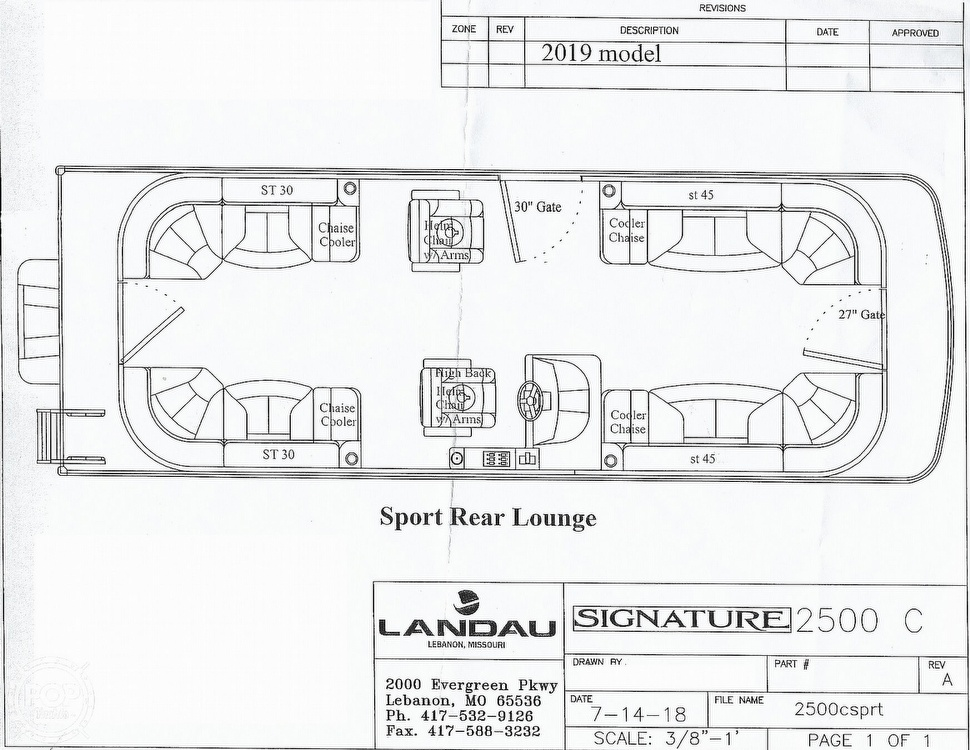 2019 Landau boat for sale, model of the boat is 2500 SIGNATURE CRUISE & Image # 29 of 40