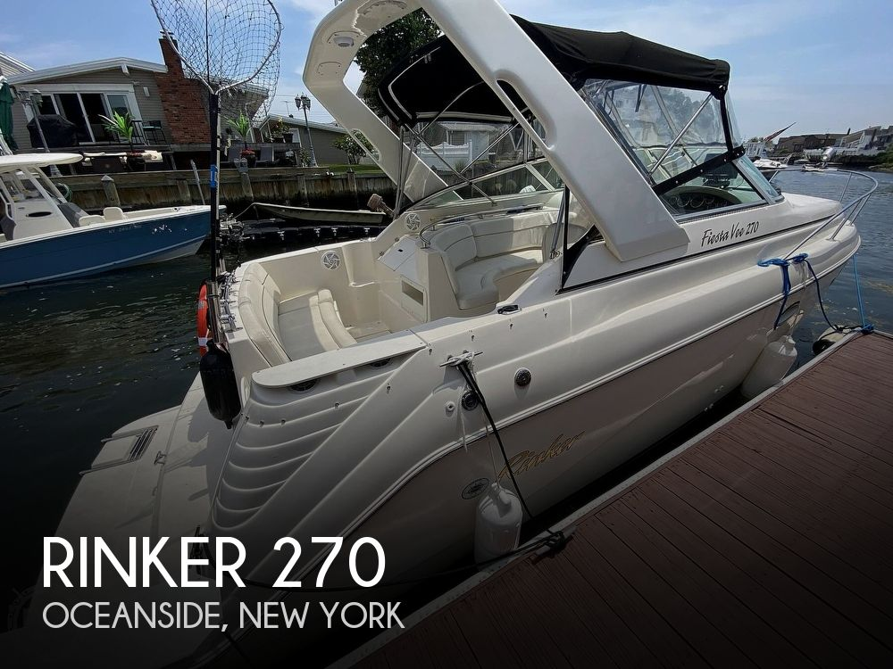 2001 Rinker boat for sale, model of the boat is 270 Fiesta Vee & Image # 1 of 40
