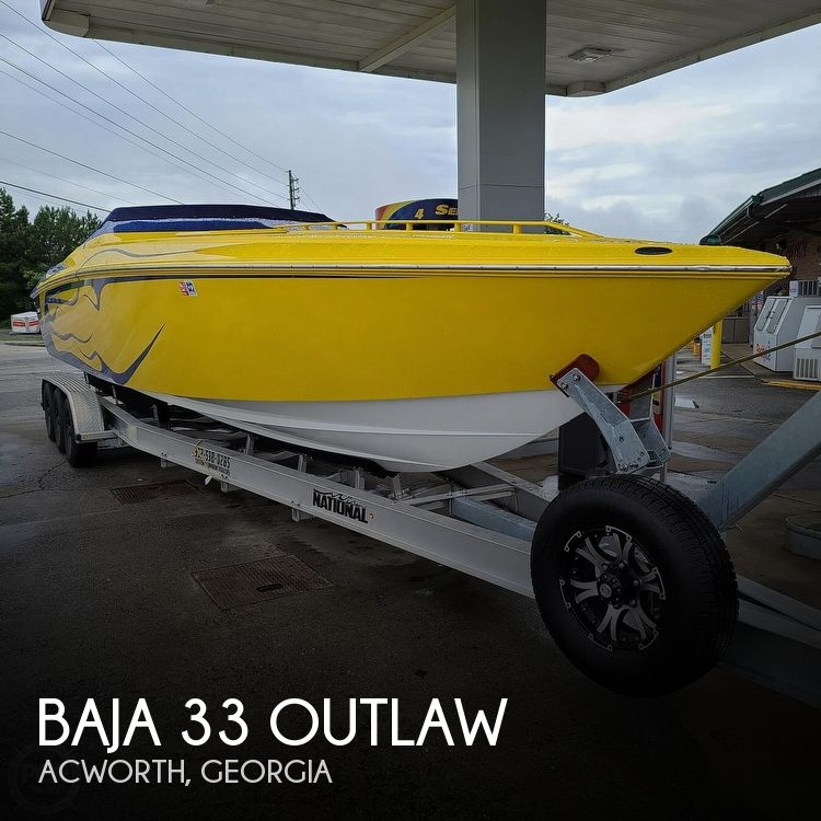 2002 Baja boat for sale, model of the boat is 33 Outlaw & Image # 1 of 40