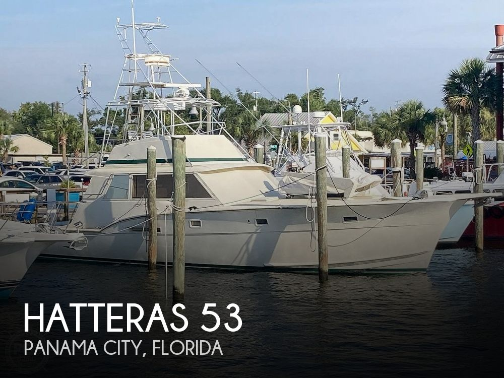 1974 Hatteras boat for sale, model of the boat is 53 Convertible & Image # 1 of 40