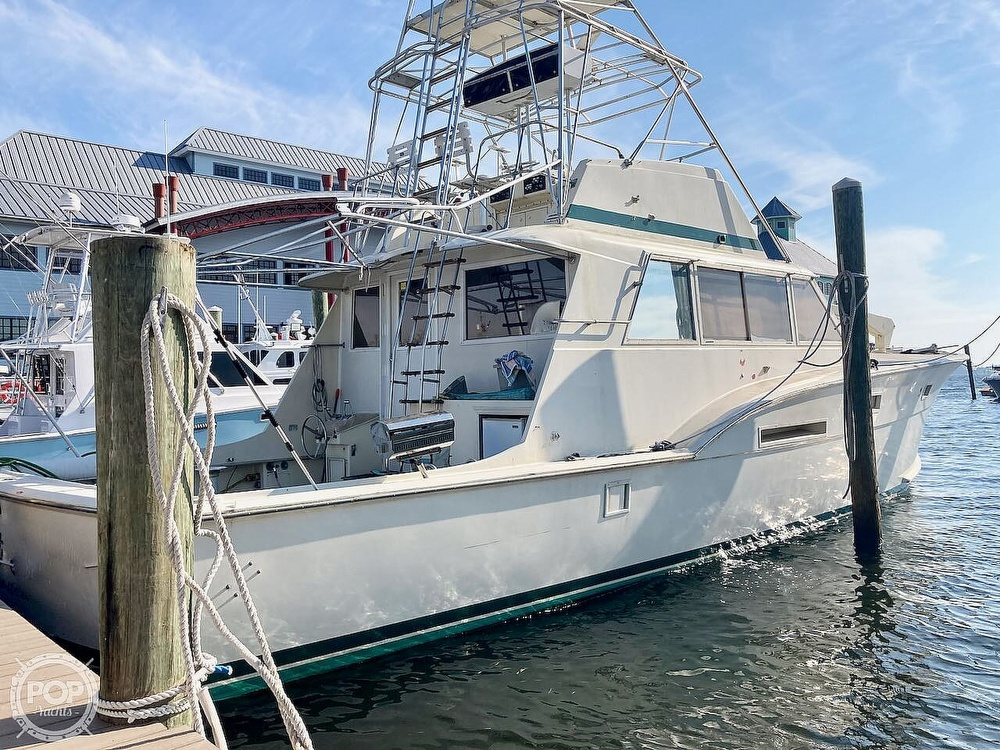 1974 Hatteras boat for sale, model of the boat is 53 Convertible & Image # 6 of 40