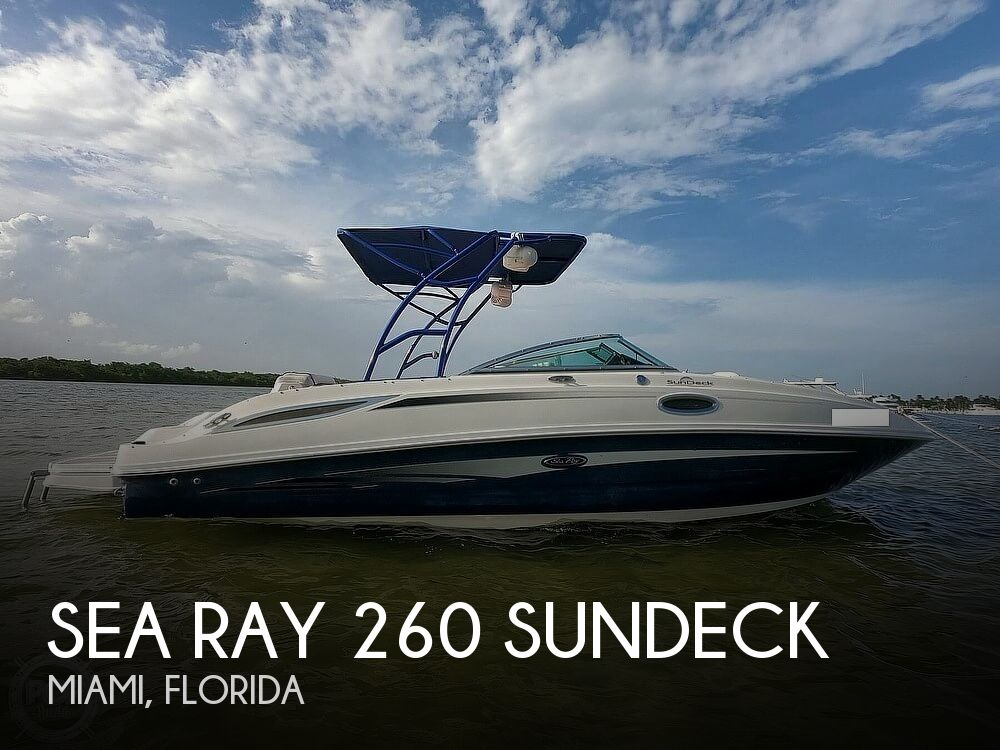 2010 Sea Ray boat for sale, model of the boat is 260 Sundeck & Image # 1 of 40