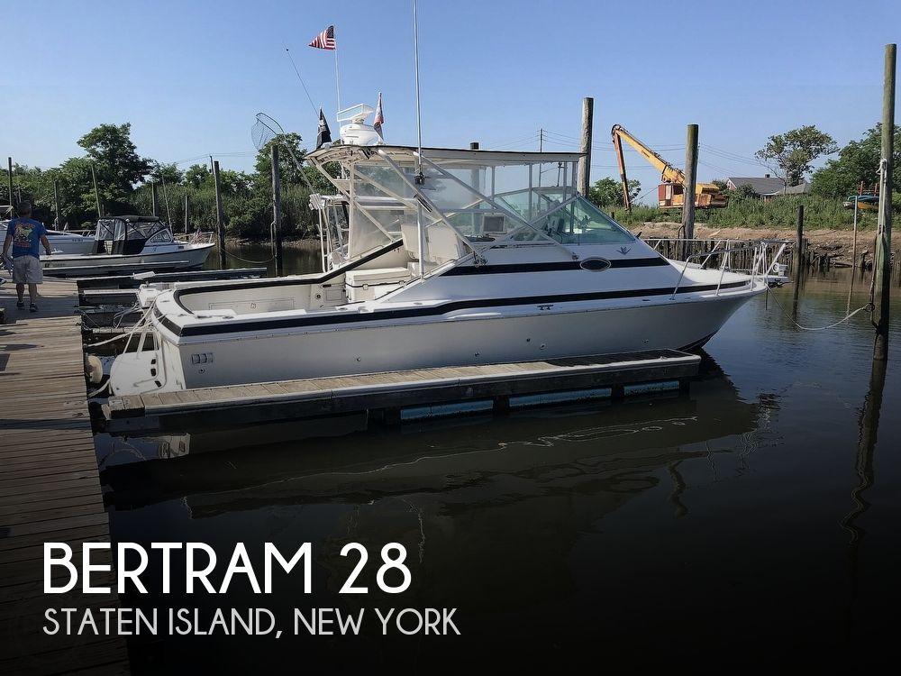 1988 Bertram boat for sale, model of the boat is Bahia Mar 28 & Image # 1 of 40