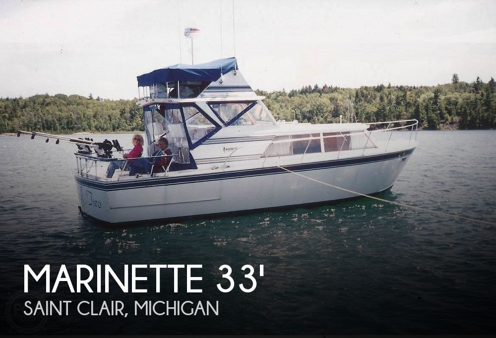 Used Marinette Boats For Sale in Michigan by owner   1973 32 foot Marinette Express Fly Bridge