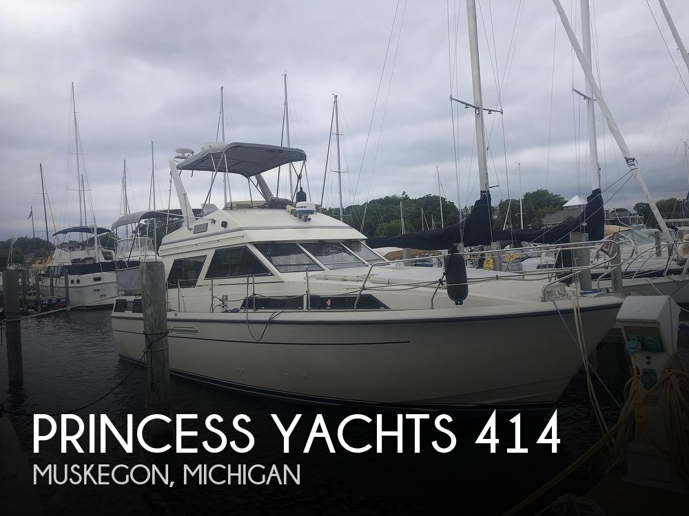 1985 Princess Yachts boat for sale, model of the boat is 414 & Image # 1 of 40