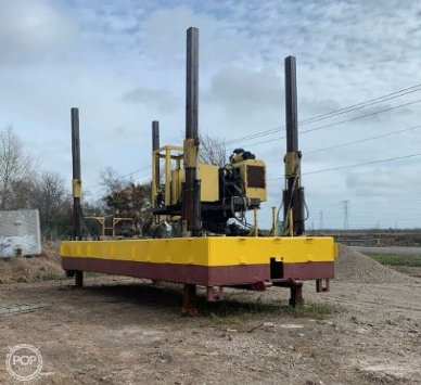 2014 Custom Built Barge For A Pile Driver