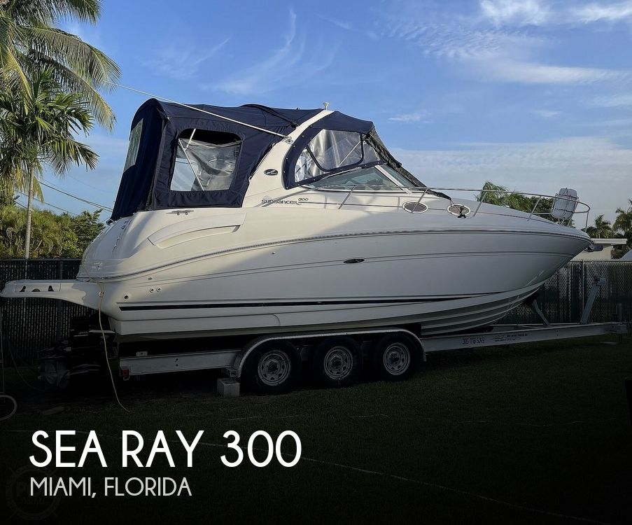 2004 Sea Ray boat for sale, model of the boat is 300 Sundancer & Image # 1 of 40