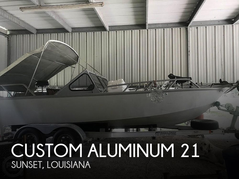 1996 Custom Aluminum boat for sale, model of the boat is 21 & Image # 1 of 8