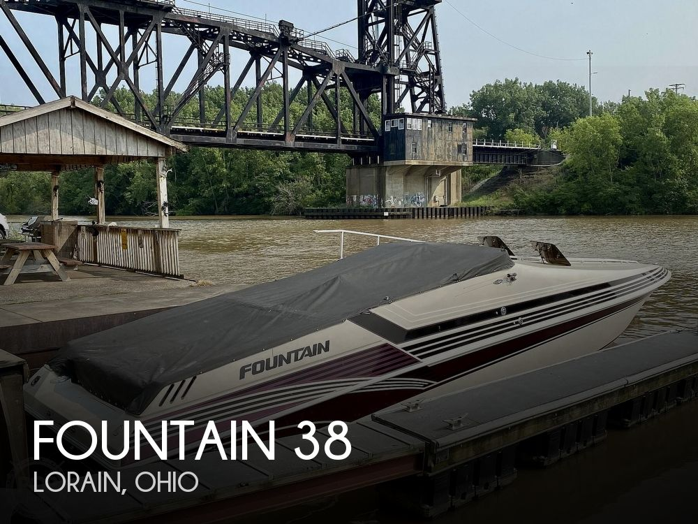 1996 Fountain boat for sale, model of the boat is 38 Sport Cruiser & Image # 1 of 40