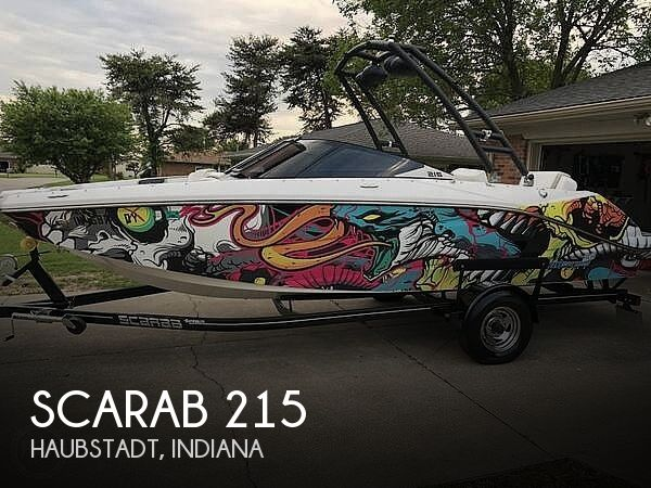 Used Power boats For Sale in Evansville, Indiana by owner | 2014 Scarab 215 HO Impulse