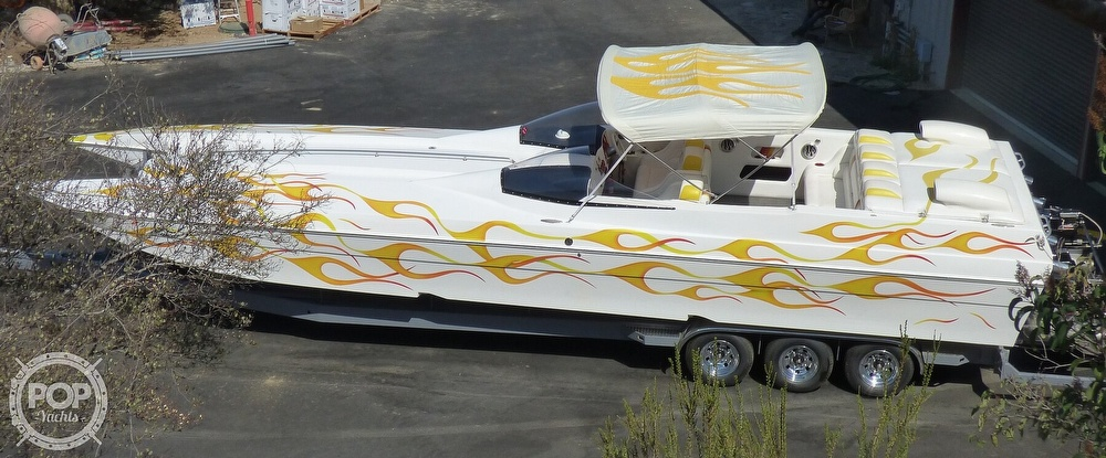 2002 Warlock boat for sale, model of the boat is 36 & Image # 3 of 40
