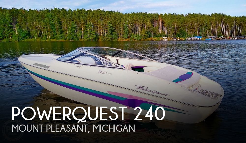 1997 Powerquest boat for sale, model of the boat is Precept 240 SX & Image # 1 of 40