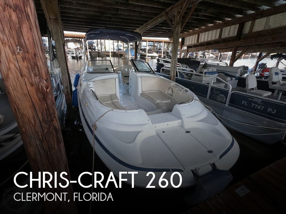 1999 Chris Craft boat for sale, model of the boat is 260 Sport Deck & Image # 1 of 40
