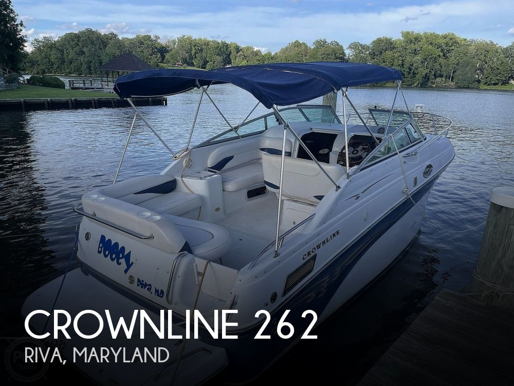 2002 Crownline boat for sale, model of the boat is 262 & Image # 1 of 40