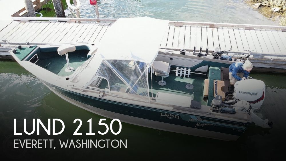 1998 Lund boat for sale, model of the boat is 2150 Baron Magnum & Image # 1 of 40