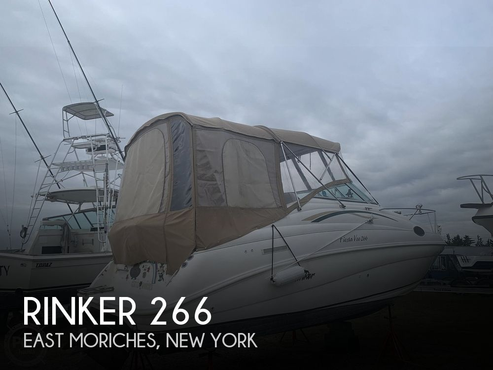 1999 Rinker boat for sale, model of the boat is Fiesta Vee 266 & Image # 1 of 40