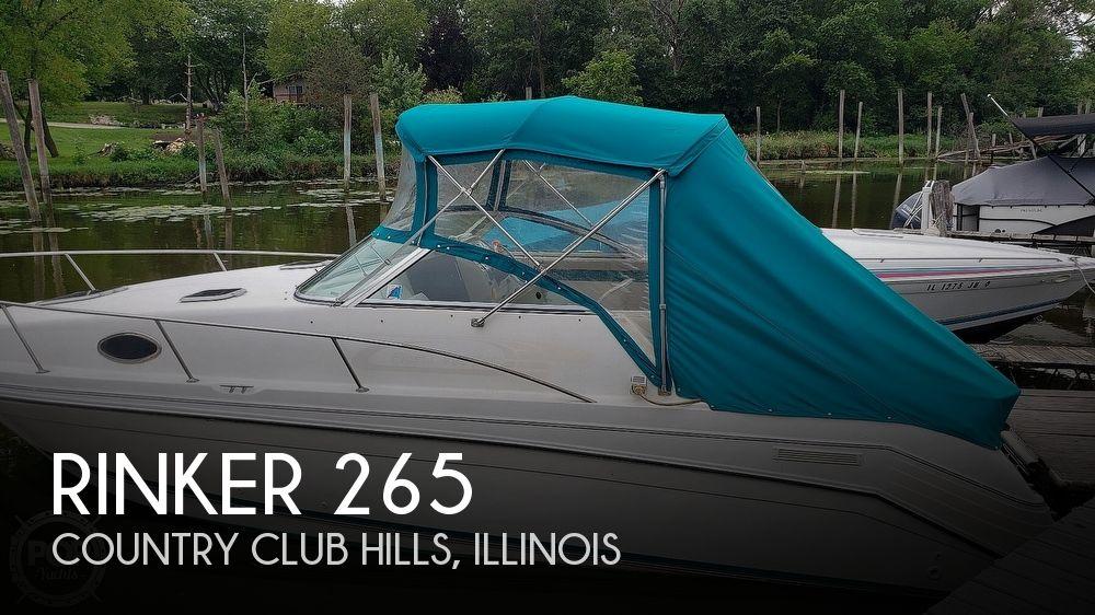 1995 Rinker boat for sale, model of the boat is 265 Fiesta Vee & Image # 1 of 40