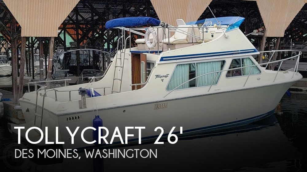 1979 Tollycraft boat for sale, model of the boat is 26' Sedan & Image # 1 of 40