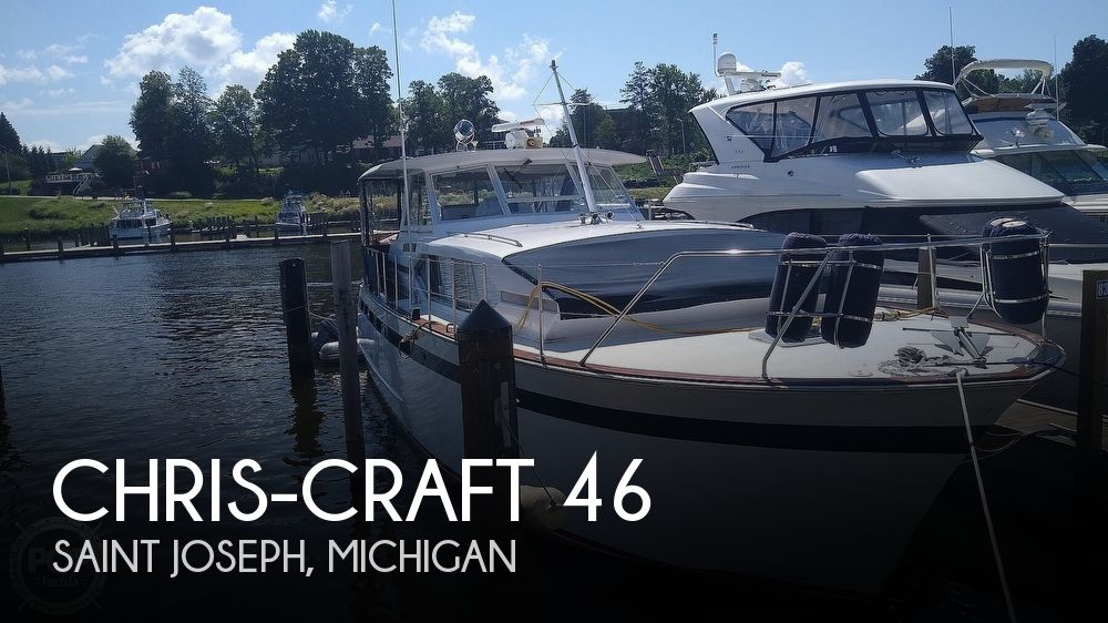 1968 Chris Craft boat for sale, model of the boat is Riviera Roamer 46 & Image # 1 of 40