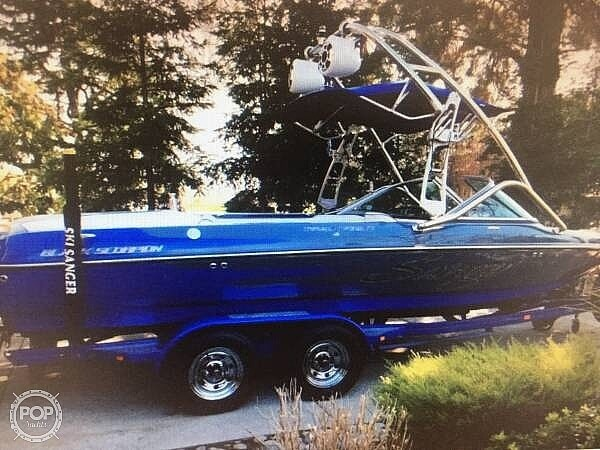 2009 Sanger boat for sale, model of the boat is 215v Black Scorpion & Image # 9 of 40