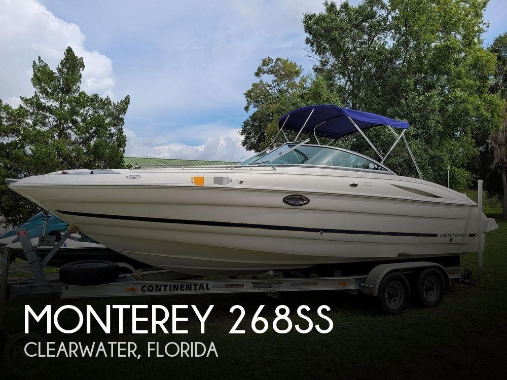 2007 Monterey boat for sale, model of the boat is 268SS & Image # 1 of 40