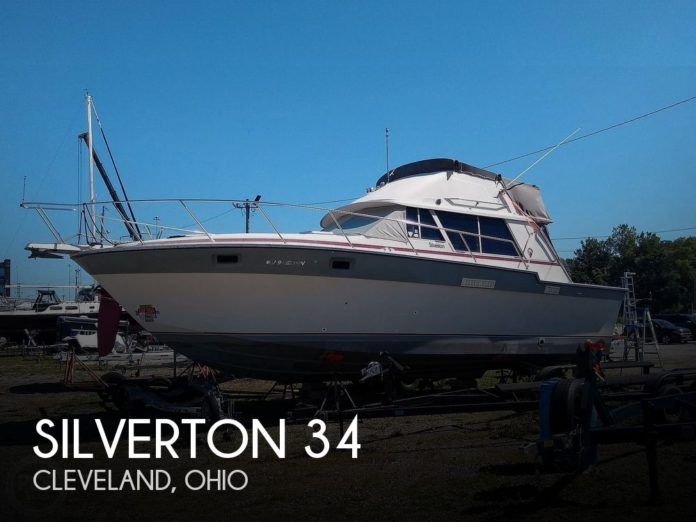 1986 Silverton boat for sale, model of the boat is 34 Convertible & Image # 1 of 40