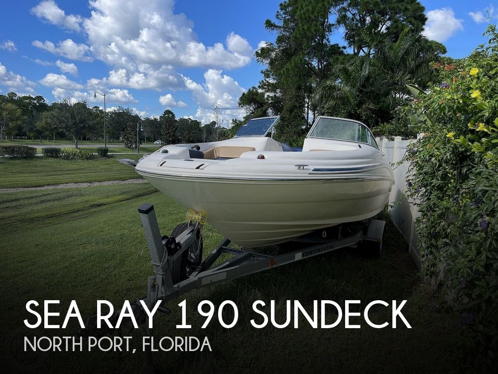 2001 Sea Ray boat for sale, model of the boat is sundeck 190 & Image # 1 of 40