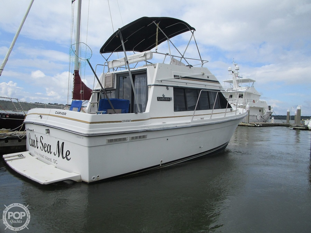 1986 Carver boat for sale, model of the boat is Carver 2827 Voyager & Image # 27 of 40
