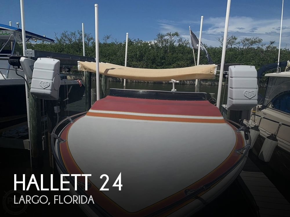 1984 Hallett boat for sale, model of the boat is 24 & Image # 1 of 40