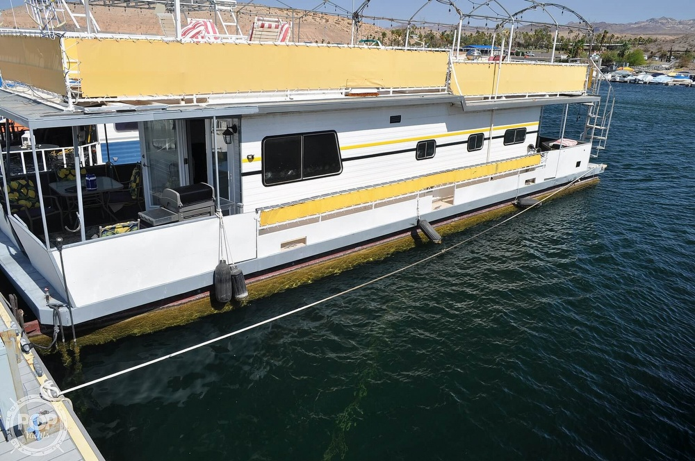 1976 Harris boat for sale, model of the boat is 46' Steel Pontoon Houseboat & Image # 2 of 40