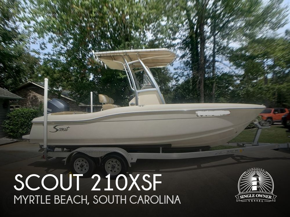 2015 Scout boat for sale, model of the boat is 210XSF & Image # 1 of 40
