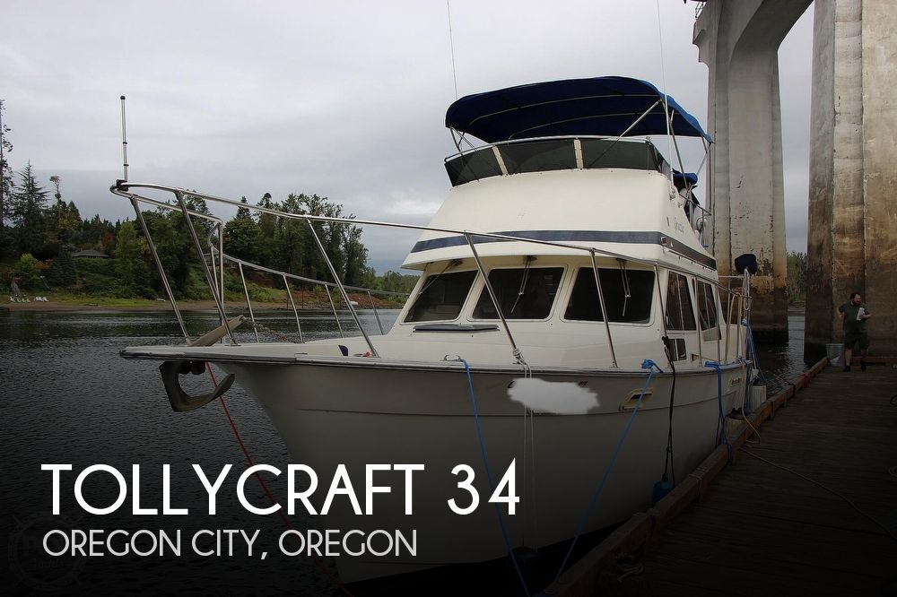 1986 Tollycraft boat for sale, model of the boat is 34 Sundeck tri cabin & Image # 1 of 40