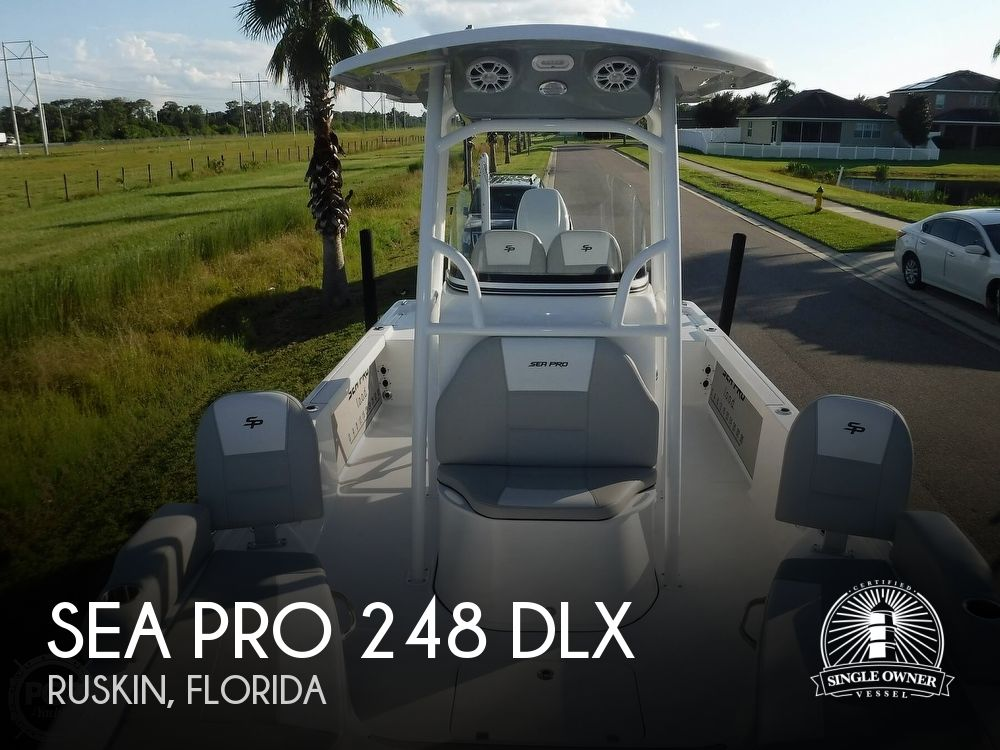 2019 Sea Pro boat for sale, model of the boat is 248 DLX & Image # 1 of 40