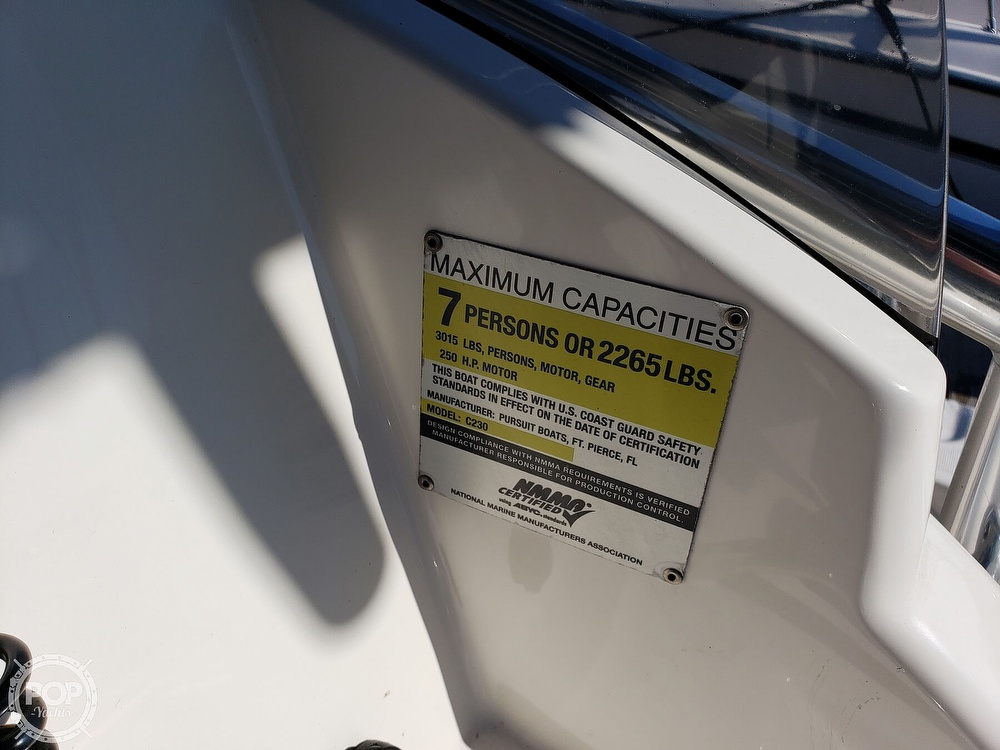 2011 Pursuit boat for sale, model of the boat is C230 & Image # 24 of 40