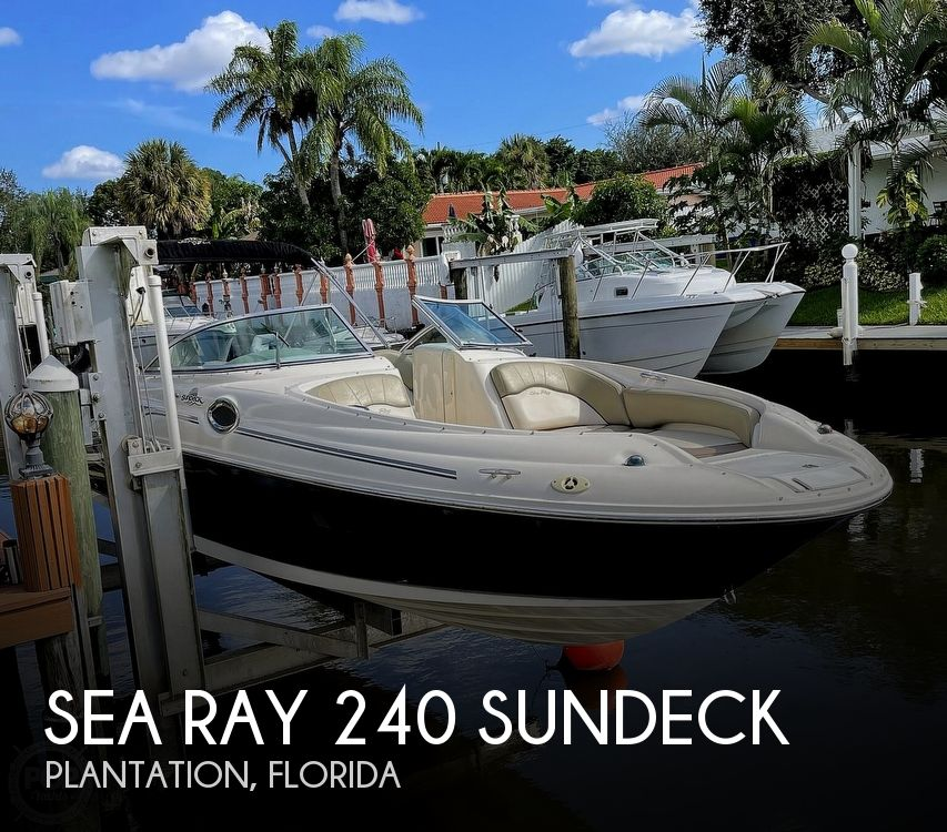 2005 Sea Ray boat for sale, model of the boat is 240 Sundeck & Image # 1 of 40