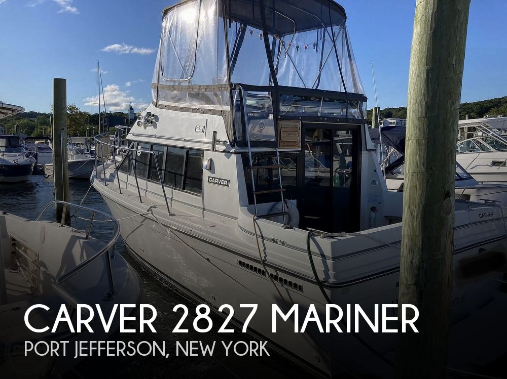 1988 Carver boat for sale, model of the boat is 2827 Mariner & Image # 1 of 40