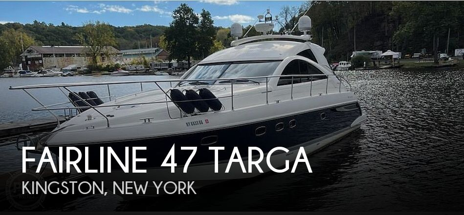 Used Boats For Sale in New Haven, Connecticut by owner   2006 Fairline 47 Targa