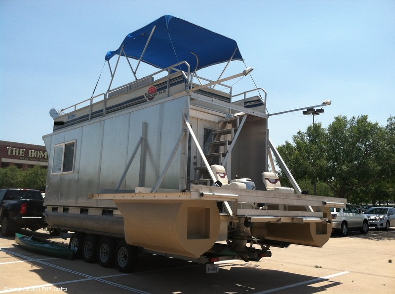 1992 Tracker Boats boat for sale, model of the boat is 24 Custom Houseboat & Image # 3 of 40