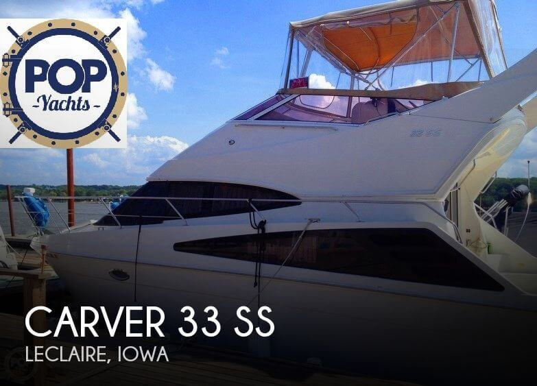 For sale used 2005 carver 33 ss in leclaire iowa boats for Used fishing boats for sale in iowa