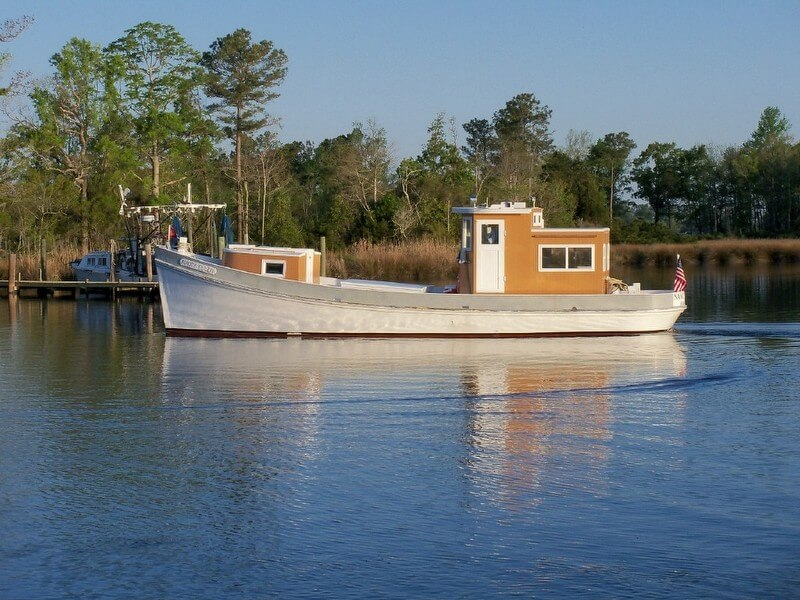 1954 Ambrose Fulcher 34 Round Stern Fishing Boat - Photo #2