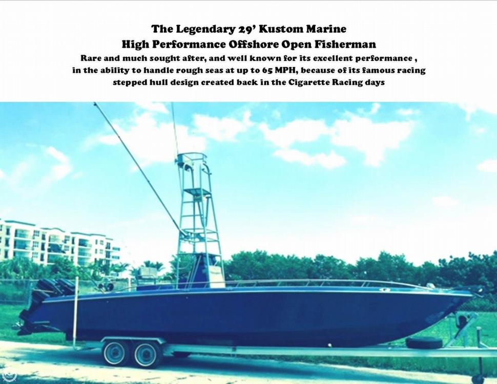 1984 Kustom Marine 29 Open Fisherman - Photo #7